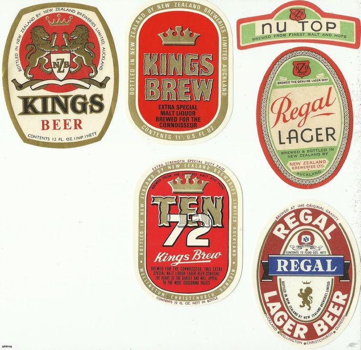 Regal and Kings Beer labels, as per scan.