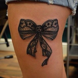 A bow tattoo