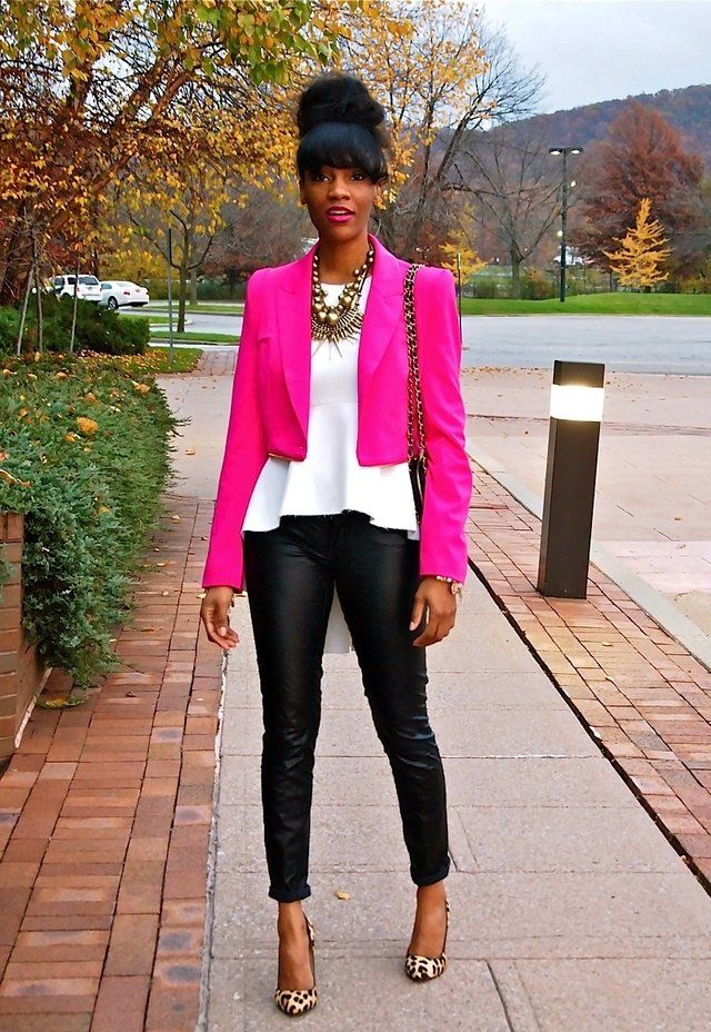 1000+ images about Hot pink blazer style on Pinterest | Kim kardashian Hot pink and Pink jacket