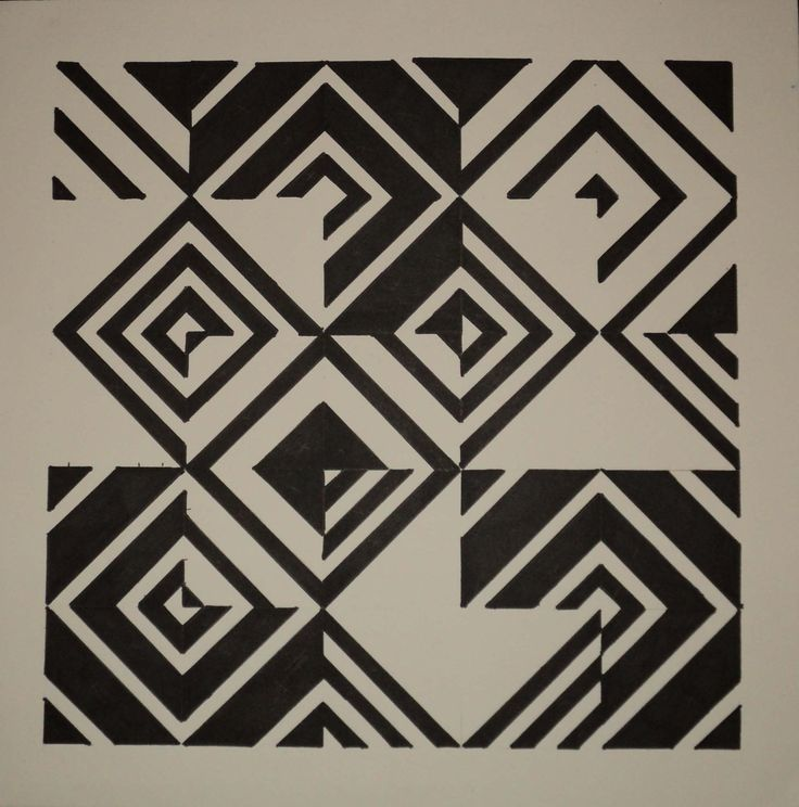 My first assignment. From 3 patterns and repetition it. This is Nirmana Black and White. Media: Marker, Color Poster and Art Carton