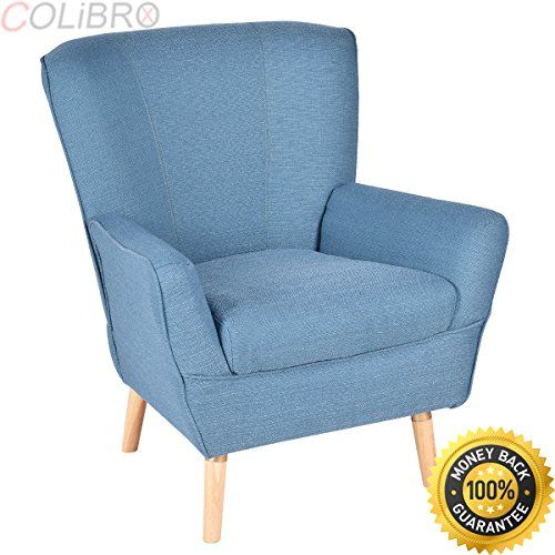Colibrox Accent Leisure Arm Chair Upholstered Single Sofa Wood