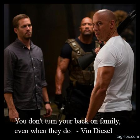 You don't turn your back on family, even when they do ...