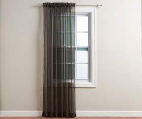 i found a black voile sheer curtain panel 84 - Sheer Curtain Panels