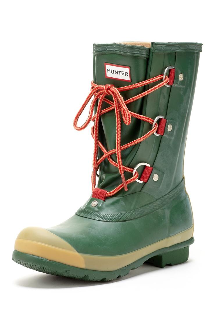 Hunter Sascha Short Lace-Up Boot. Perfect farm boot!