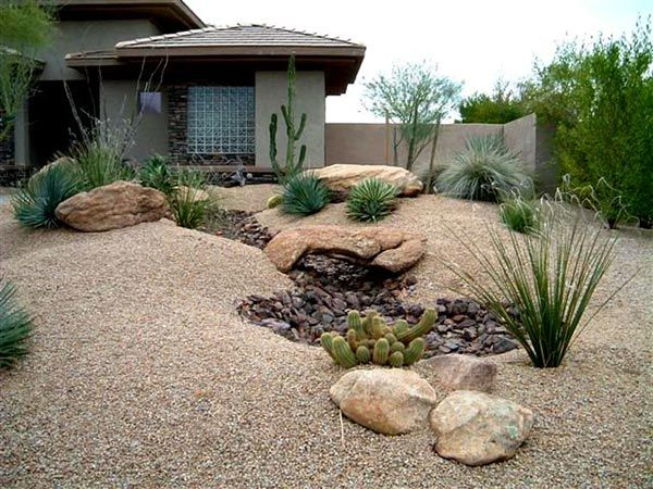 Desert Landscaping With River Rock : Best images about desert landscaping on