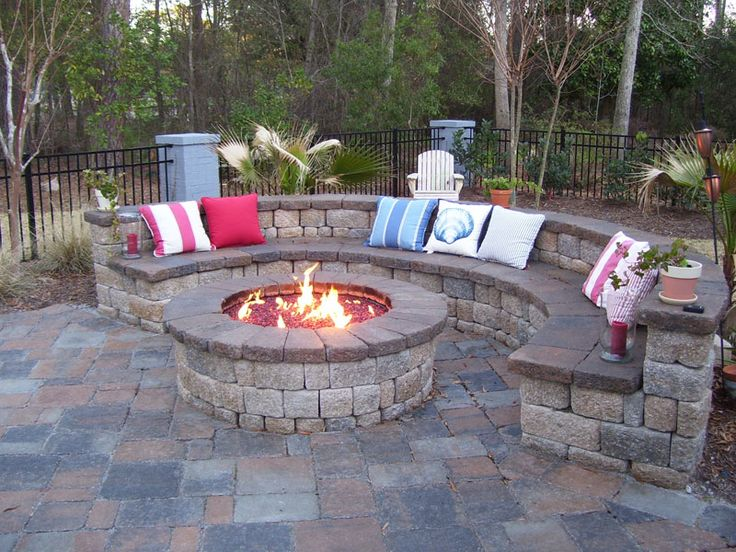 Ordinary Outdoor Firepit Part - 3: Firepit ? And Bench Seating. Perfect Place In The Backyard! Doing This In  My Backyard!