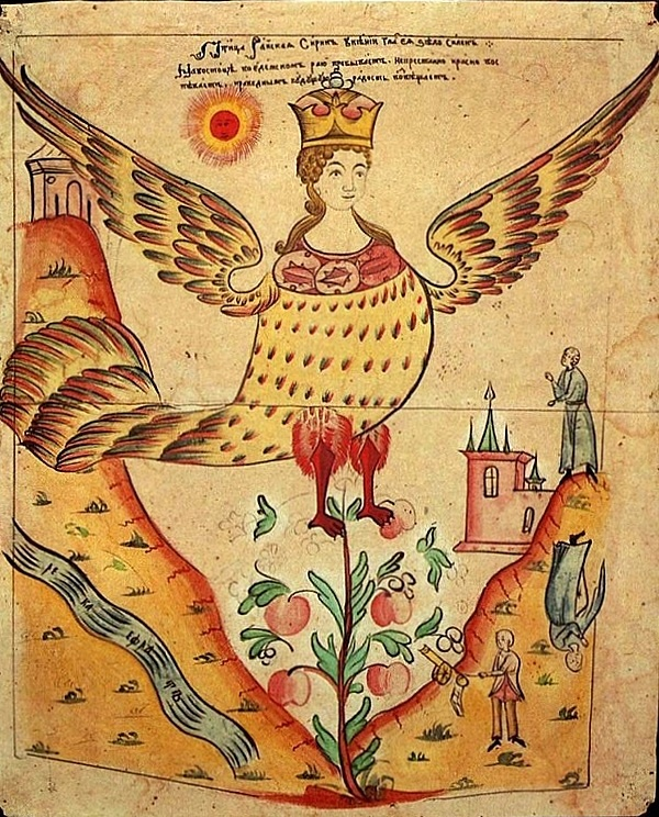Sirin Russian lubok 19th century