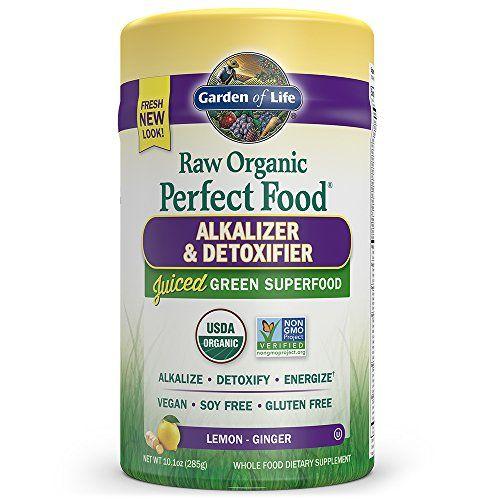 Garden of Life Vegan Green Superfood Powder - Raw Organic Perfect Whole Food Alkalizer & Detoxifier 10.1oz (285g) Powder