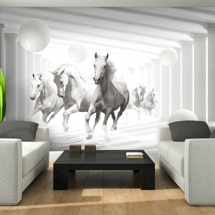 vlies poster wandbild tapete fototapete pferd tier kugeln kunst wand 3fx3087ve kinderzimmer. Black Bedroom Furniture Sets. Home Design Ideas