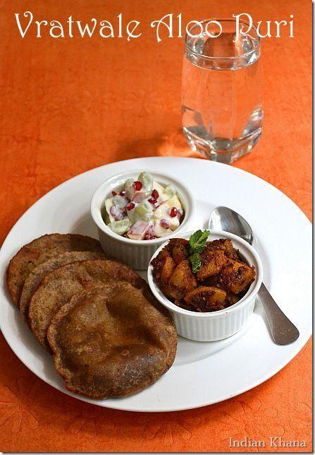 Vrat Ke Aloo Puri ~ Navratri Fasting Recipe  Singhara Aloo Puri
