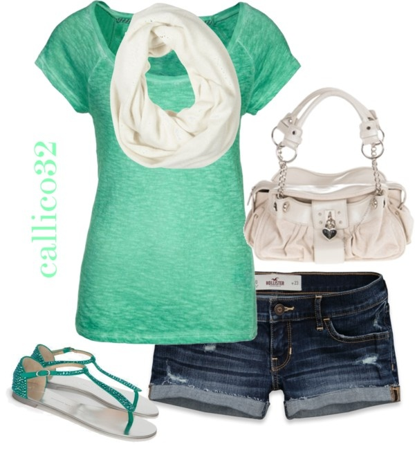 """""""Summer Scarf"""" by callico32 on Polyvore"""