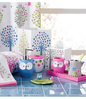Best Girls Bathroom Images On Pinterest Girl Bathrooms - Owl bathroom decor set for small bathroom ideas