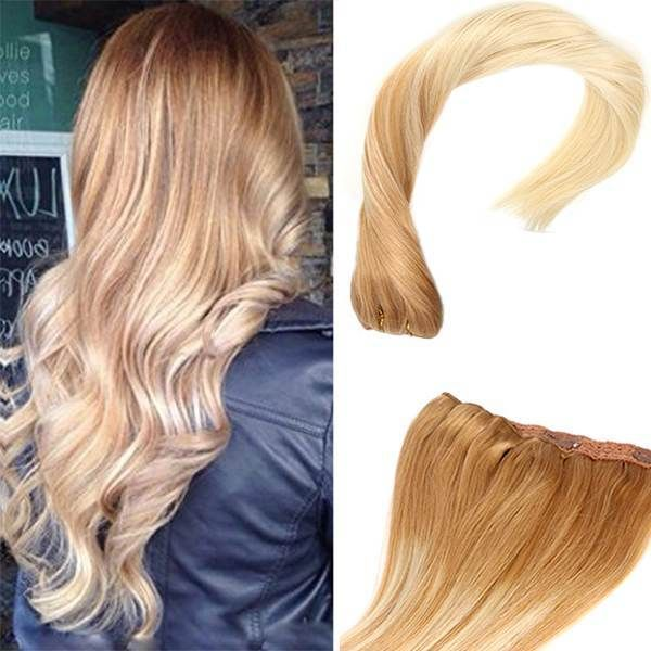 Balayage Ombre Blonde Clip in Remy Human Hair Extensions #14/60