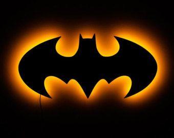 Illuminated LED Batman Sign by IlluminateMeSigns on Etsy