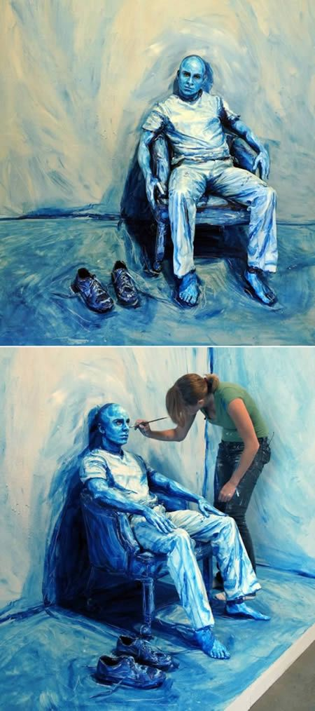 10 Most Amazing 3d Body Paintings - Oddee.com #painting #bodyart #art Alexa Meade is the shit!