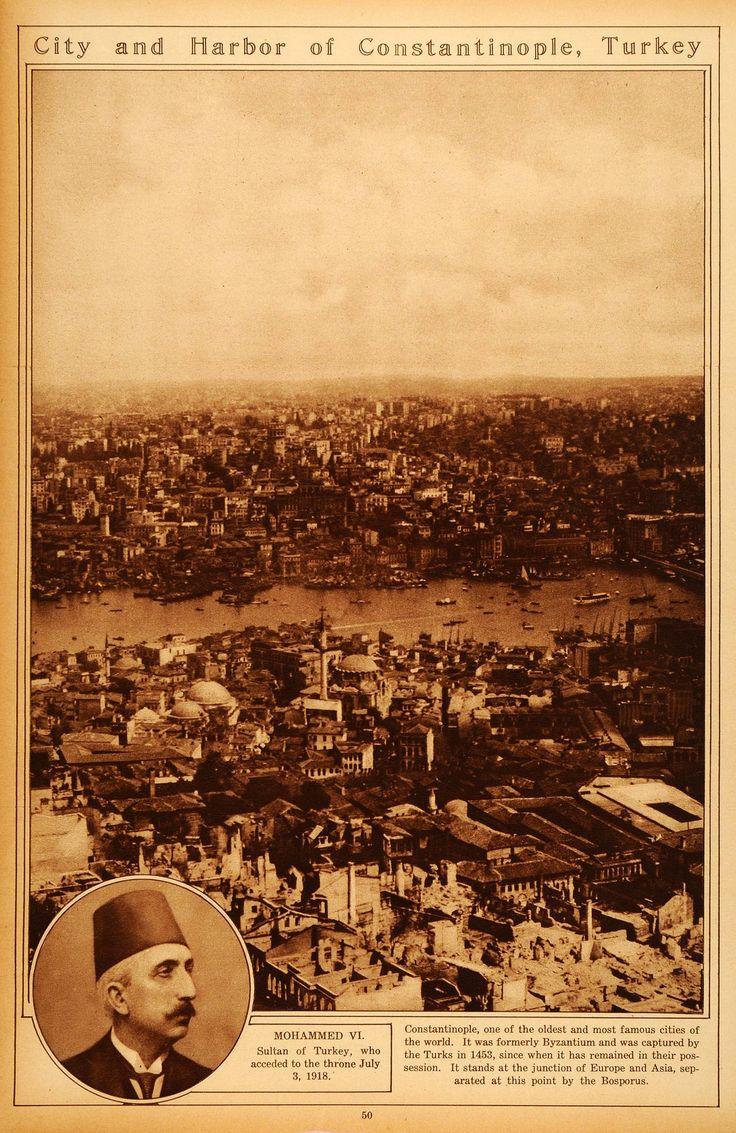 1922 Rotogravure Constantinople Turkey Mohammed VI Sultan Cityscape Asia RTO3