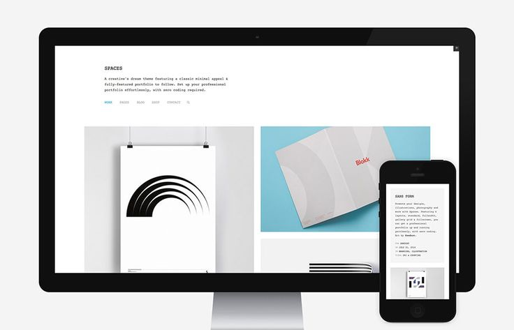Spaces is a creative's dream theme featuring a classic minimal appeal & fully-featured portfolio, Easy Digital Downloads integration & WooCommerce shop to follow. Set up your professional website effortlessly, with zero coding required!