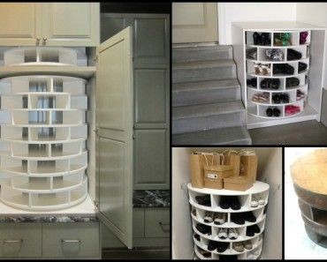 Lazy Susan Shoe Storage? Yes Please!