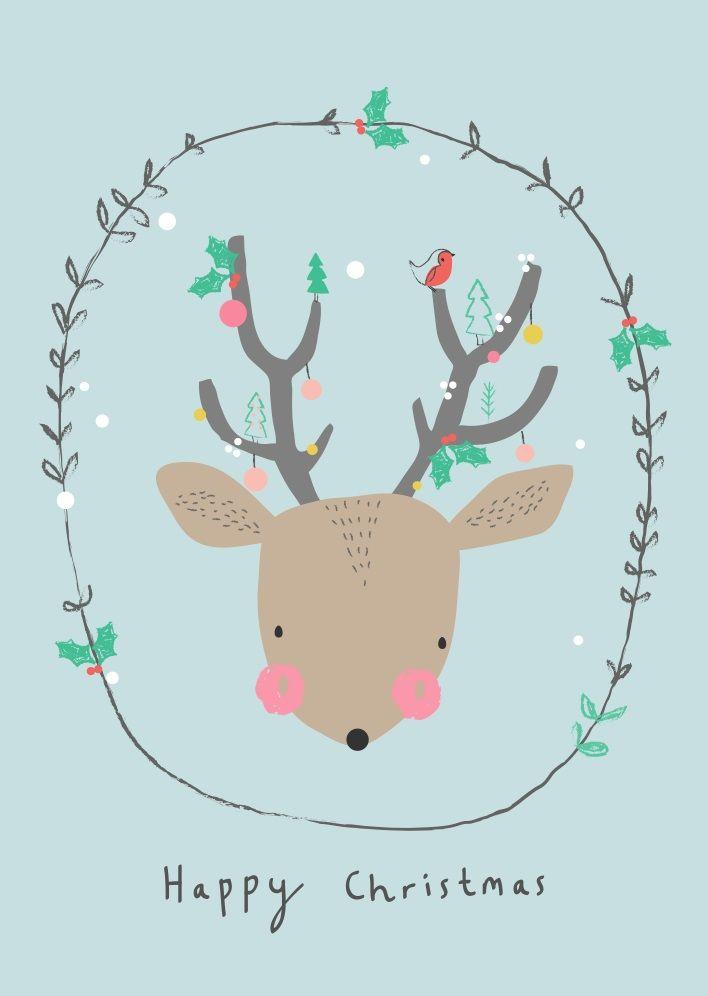 Aless Baylis | Christmas Deer – postkaart