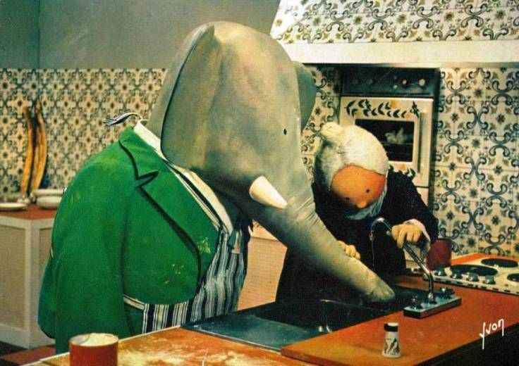 """Ohhhhh BABAR!!!!!!!!!!!! :D x I used to absolutely """"LOVE"""" BABAR!!!!!!!!!Oh I could just cry!!!!!!!! I'd forgotten all about BABAR!!!!!!!! Thank You for reminding me, Ray Hall!!!!!!! :D x BABAR 1970."""