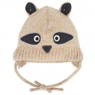 Raccoon Face Knit Beanie