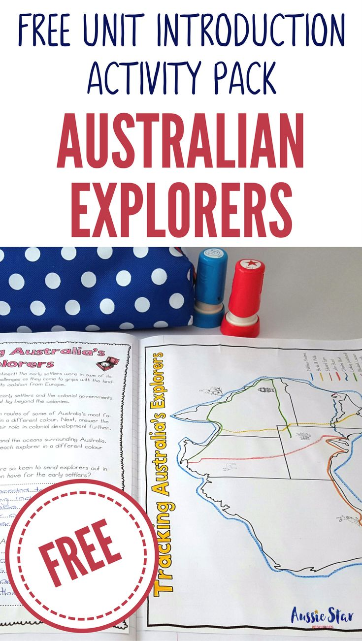 Start your Australian Explorers Unit with this FREE 18 page teaching resource featuring 5 activities designed to launch your learning expedition, engage your students and inspire them on their journey into Australian Explorers. Best of all it's complete FREE!