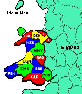 Wales map