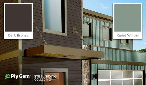 Galvanized Steel Panel Siding Metal Exterior Cladding Ply Gem In 2020 Steel Siding Siding Exterior Cladding