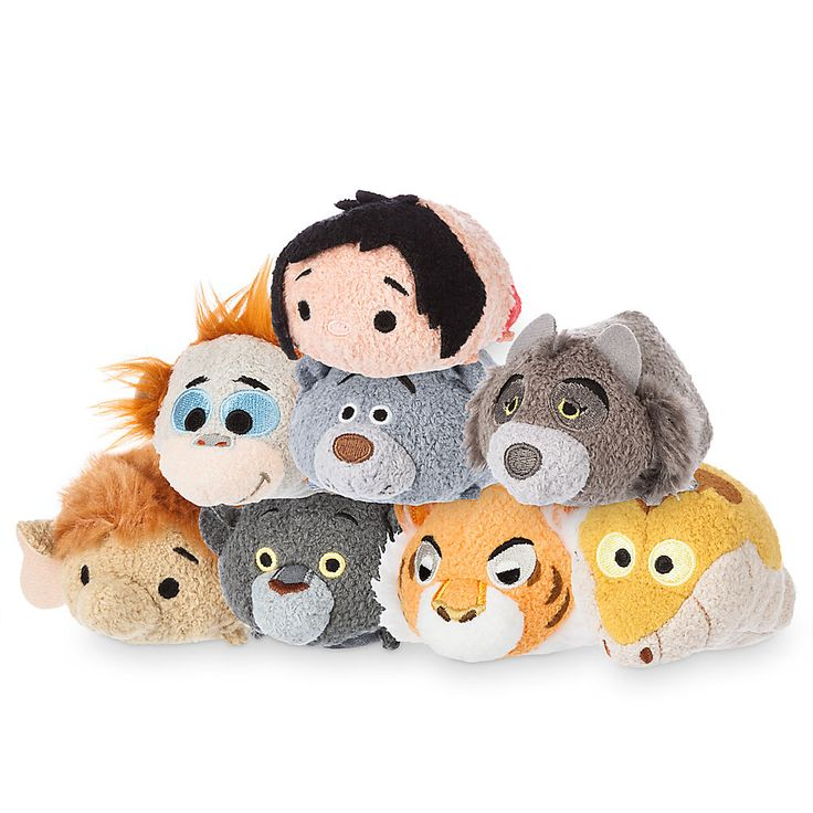 "The Jungle Book Disney Tsum Tsum mini 3.5"" plush collection released on April 19, 2016, includes Mowgli, King Louie, Baloo, Raksha, Junior, Bagheera, Shere Khan and Kaa."