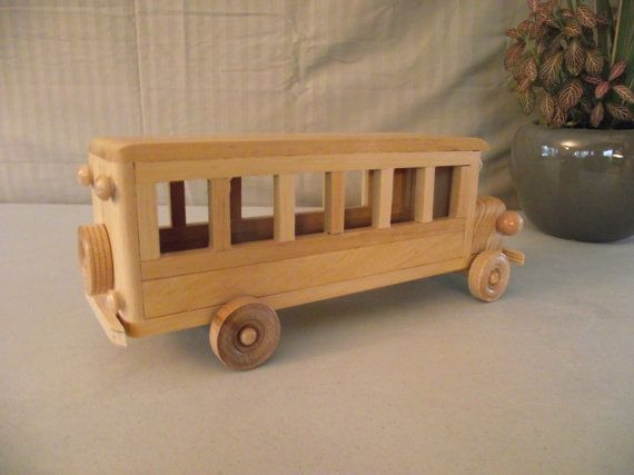 Reclaimed LARGE Wooden Toy Bus for Children Kids by Aroswoodcrafts