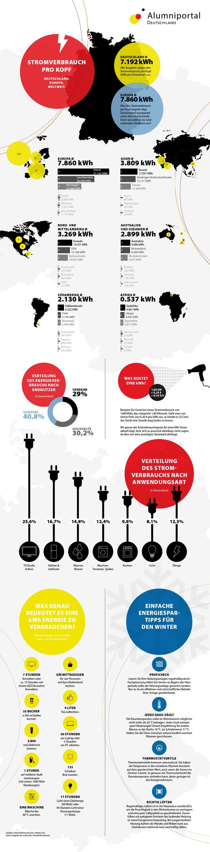 Energieverbrauch in Deutschland, Europa und weltweit