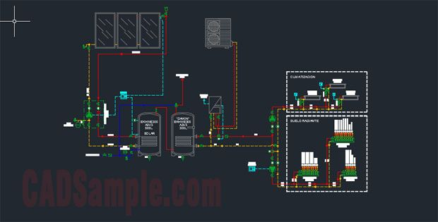 00000solar Energy System Detail Drawings Free Dwg