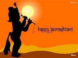 Happy Janmashtami With Bal Krishna HD Wallpaper,Greetings HD Wallpaper,Happy Janmashtami With Quotes HD Wallpaper,Lord Krishna HD Wallpaper,God Images