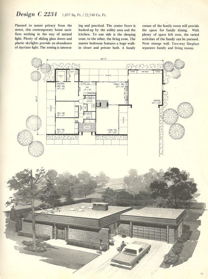 96 best Retro House Plans images on Pinterest Architecture