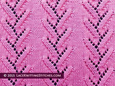Lace Knitting. #Foliage Lace stitch pattern.