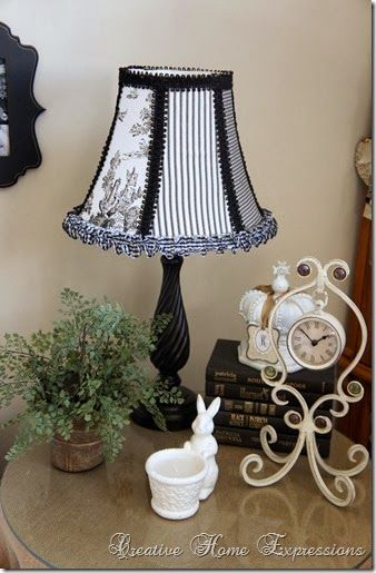 Living Room Lampshade Makeover : Creative Home Expressions