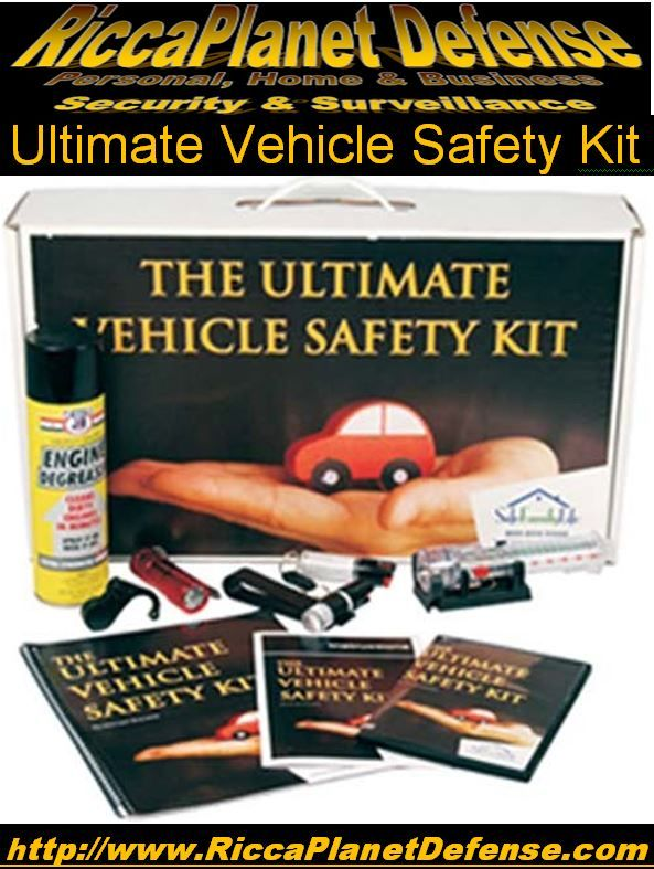 Ultimate Vehicle Safety Kit! The Ultimate Vehicle Safety Kit by SafeFamilyLife combines our products with product instructional DVDs and manuals and new, extensively researched reports into special purpose kits. includes:   #AutoEmergencyTool  #NapAlarm  #PepperSpray #Flashlight  #DiversionSafe  All #batteries included  Products #InstructionalManual  #College #Safe #Safety #Teen #Student #Protection  #Alarm 
