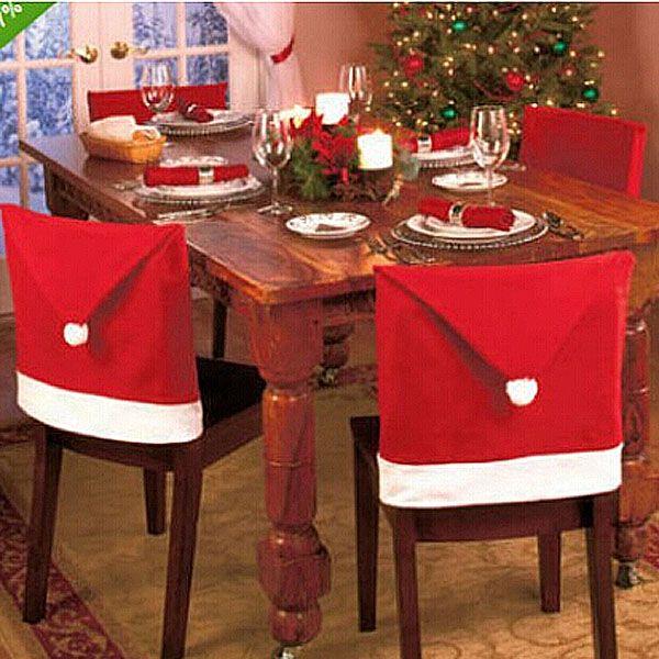 【クリスマス】サンタ帽子デザイン・チェアーカバーセット