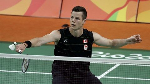 Canada's Martin Giuffre loses in straight games in men's badminton