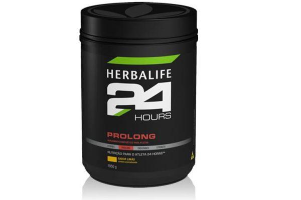 Herbalife 24 Hours Prolong Porque Consumir?  A combinação de carboidratos da frutose e maltodextrina auxilia na utilização adequada das calorias durante o treino, repondo a energia consumida com a atividade física.  Relação Carbo-Proteína 12:1 (Carboidratos: frutosee maltodextrina e Proteína: Isolada do soro do leite) Adequado teor calórico (252 calorias) Eletrólitos disponíveis (522 mg) Vitaminas do Complexo B (Tiamina, Riboflavina e B6) Delicioso sabor limão