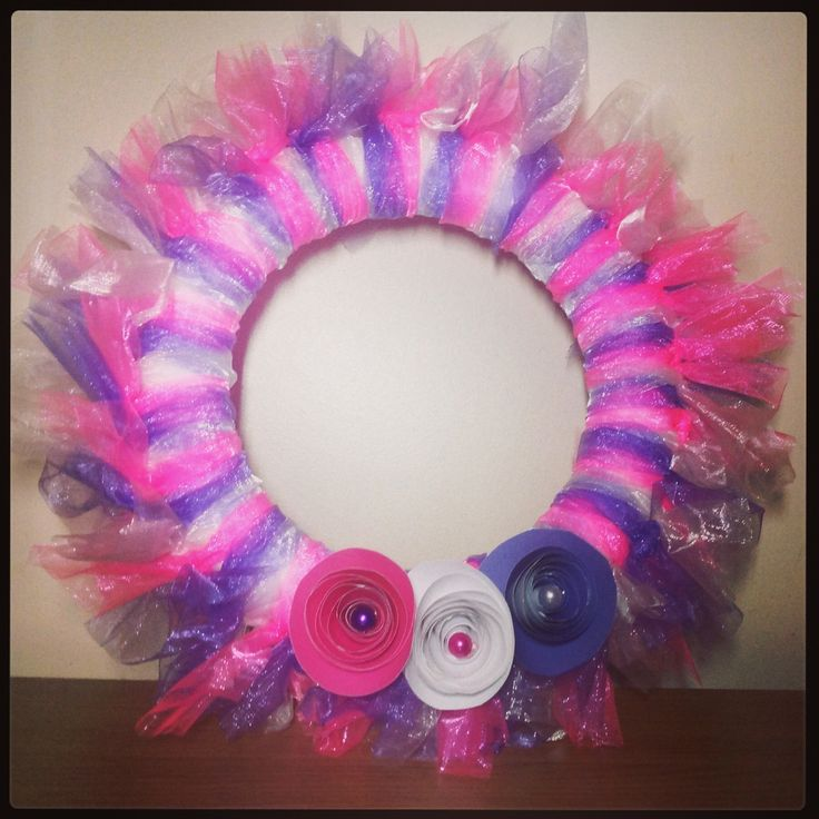 Organza hoop for my lil lady's new bedroom #crafts #handmade