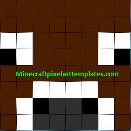 Minecraft Pixel Art Templates: Cow