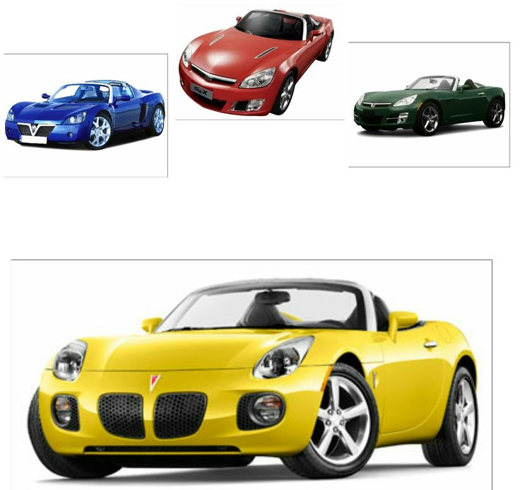 Vauxhall VX220 (top left) - Daewoo G2X (top centre) - Saturn Sky (top right) - Pontiac Solstice (bottom)
