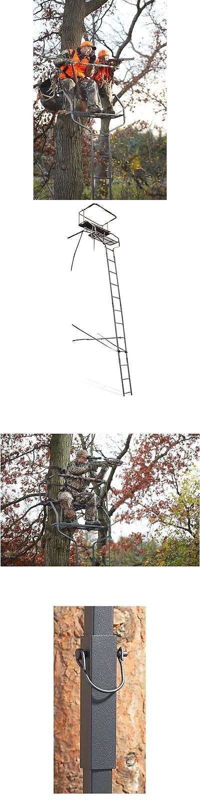 Tree Stands 52508: Ladder Tree Stand 18 Hunting 2 Man Foot Rest Deluxe Shooting Sniper Outdoors -> BUY IT NOW ONLY: $131.99 on eBay!