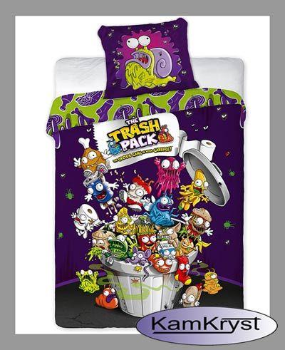 Bedding Śmieciaki Trash Pack size 160x200 - Children's cotton linens KamKryst   Pościel Śmieciaki Trash Pack rozmiar 160x200 - pościel dziecięca bawełniana KamKryst