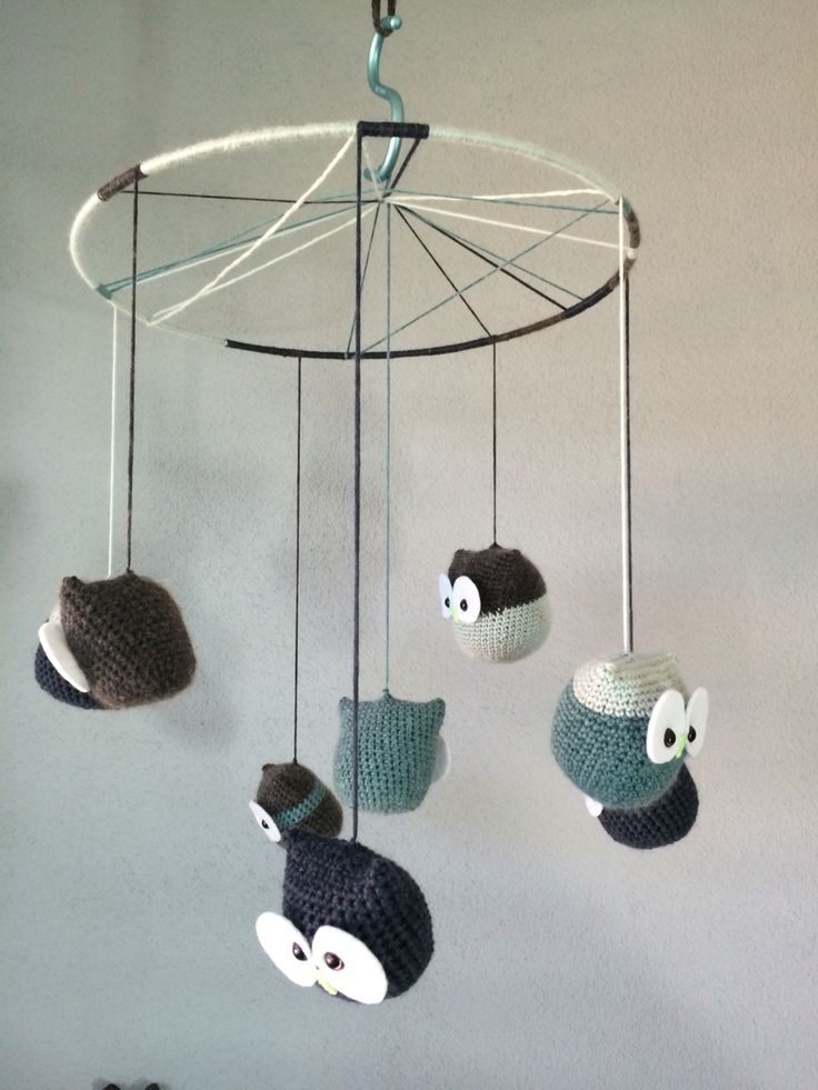 Owl Mobile for our baby boy nursery