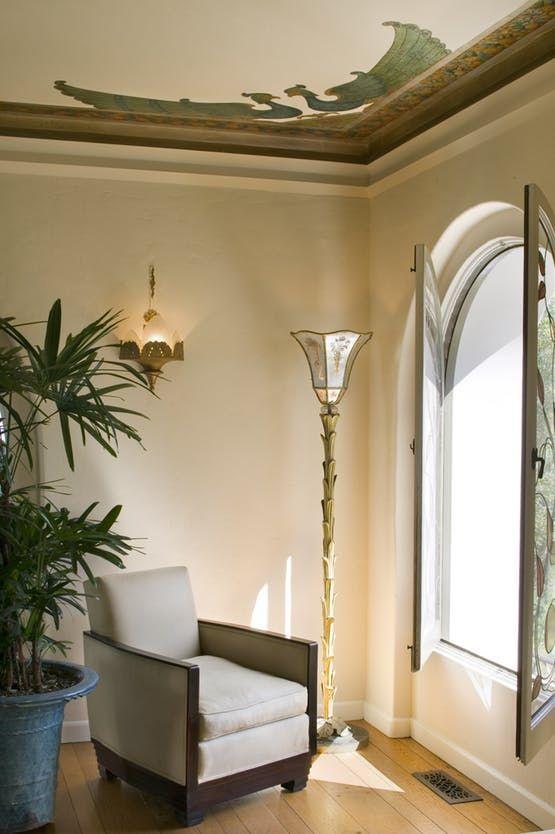 La Canada Mediterranean Art Deco  Design Detail  Living  Vignette  Mediterranean by Everage Design, Inc