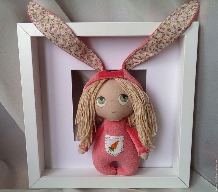 Купить Кукла Лялька Зайка. Девочка игровая детская - коралловый, зайчик, девочка, кукла, детская