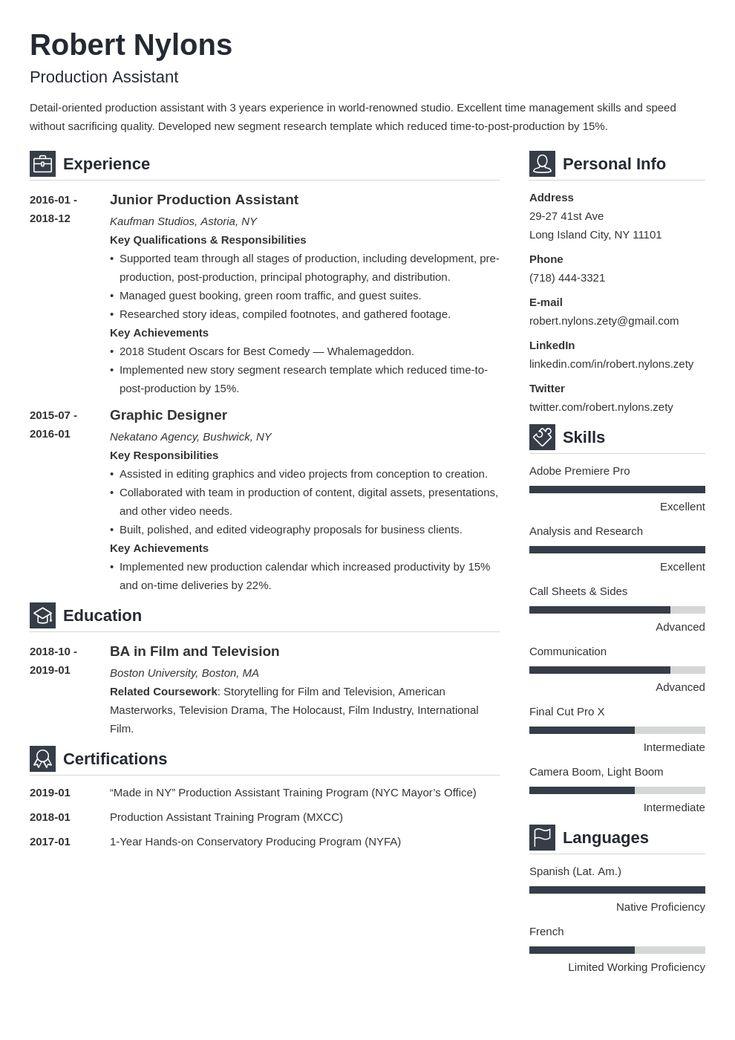 38++ Production supervisor resume format trends