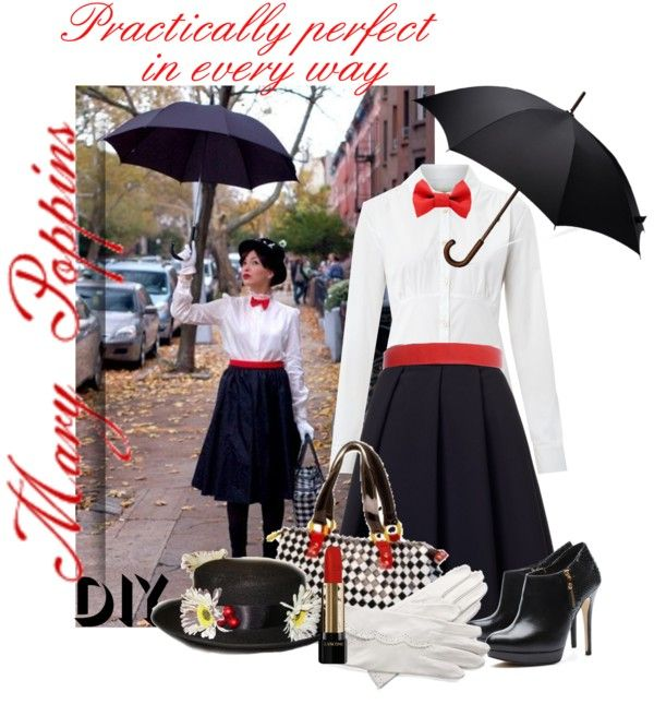 """""""DIY Halloween Costume: Mary Poppins"""" by dixiebelle81 on Polyvore"""